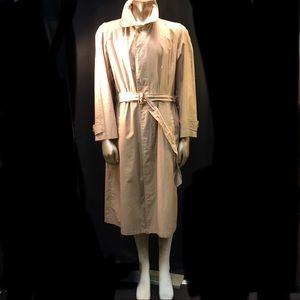 Vtg Burberry's Khaki Trench Coat